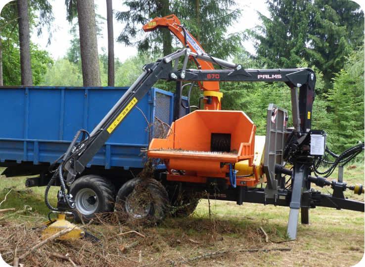 Astilladora de tambor con toma a tractor 350-RBP