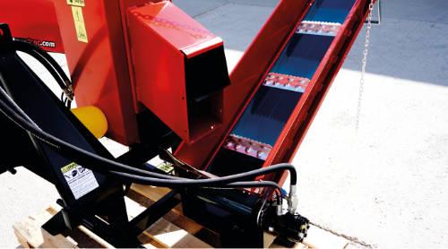 Detalle de cinta transportadora rotatoria