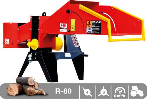 Troceadora de leña mediante tambor con toma a tractor R-80