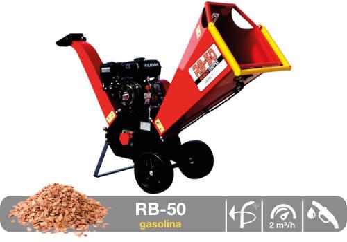 Astilladora de leña portátil mediante tambor RB-50 gasolina