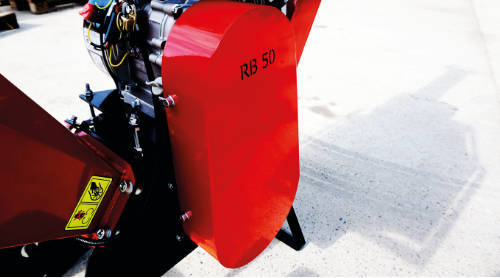 Detalle del embrague de las astilladoras serie RB
