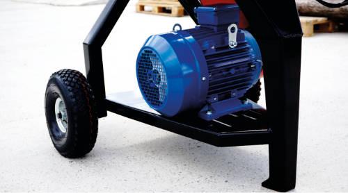 Detalle del motor eléctrico de las astilladoras Standard RE