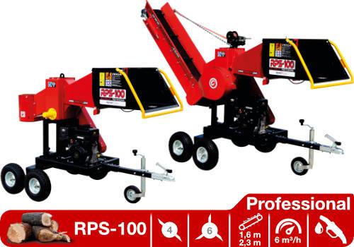 Troceadora de leña mediante tambor con motor de gasolina RPS-100 Professional
