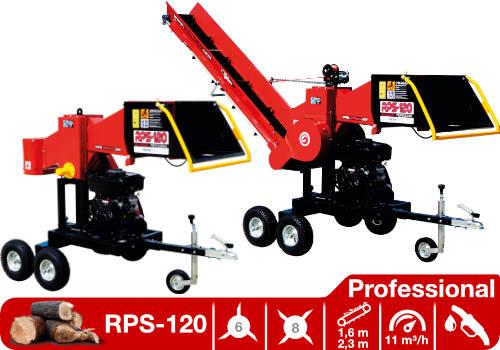 Troceadora de leña mediante tambor con motor de gasolina RPS-120 Professional