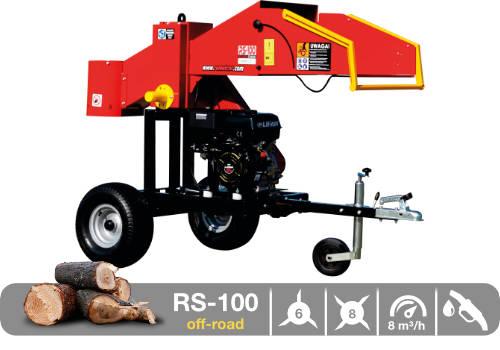 Troceadora de leña mediante tambor con motor de gasolina RS-100 off-road