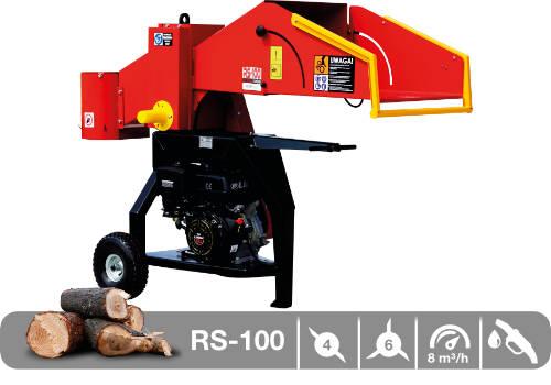 Troceadora de leña mediante tambor con motor de gasolina RS-100