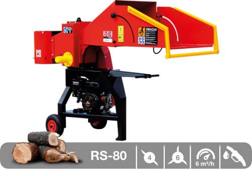 Troceadora de leña mediante tambor con motor de gasolina RS-80