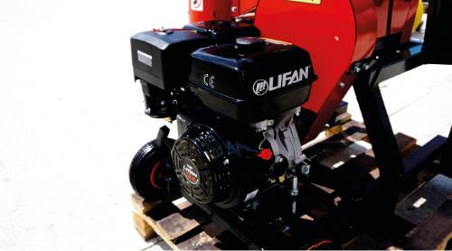 Detalle de los motores de la astilladora RS