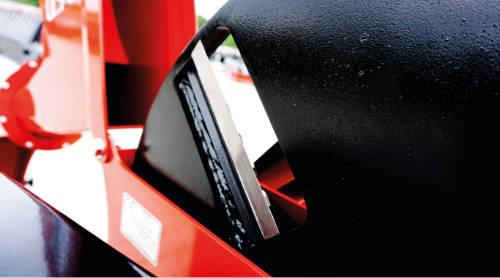 Detalle de los discos de corte de las astilladoras serie RT