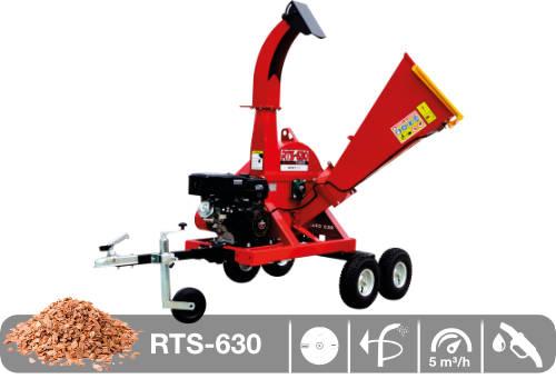 Astilladora de leña mediante disco y motor de gasolina RTS-630