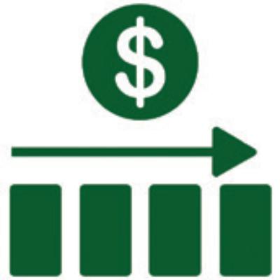 Icono de gráfica estable